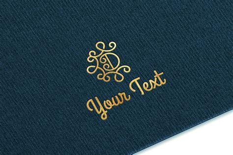 Layered psd through smart object insertion license: Gold Logo MockUp Ver.2 ~ Branding Mockups ~ Creative Market