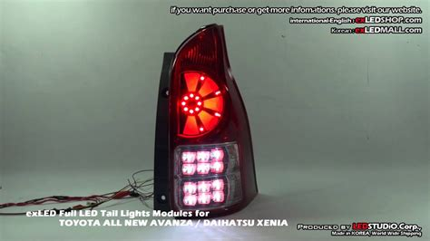 exled full led tail lights modules  toyota