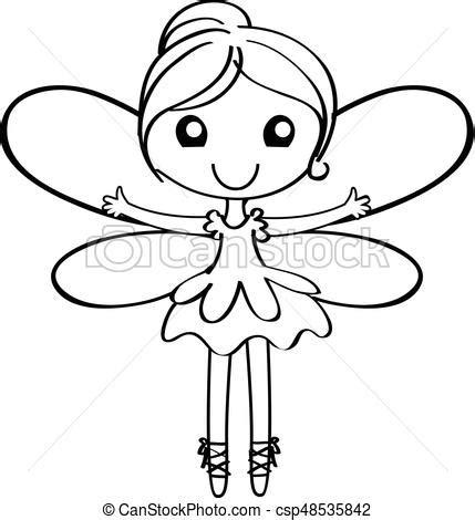 cartoon fairy outline cartoon fairy outline