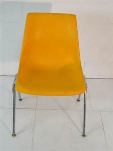 Yellow Plastic Mid Century Modern Eames Era 6039s Chair