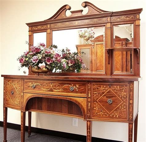 Antique Buffets Sideboards by Antique Sideboard With Mirror Beveled On Top Ebay