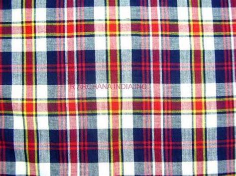 madras checks fabric  archana india  exporter