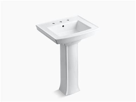 Kohler Archer Pedestal Sink And Toilet by Archer Pedestal Sink With 8 Inch Centers K 2359 8 Kohler