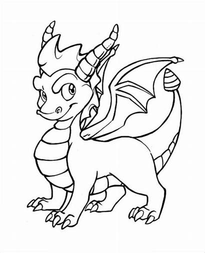 Dragon Drawing Template Coloring Templates Pages Spyro