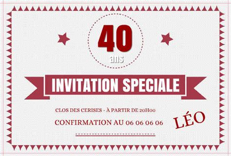 Carte Invitation Anniversaire Entreprise