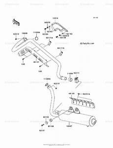 Kawasaki Atv 2004 Oem Parts Diagram For Muffler S