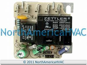 Trane Blower Motor Relay Fan Zettler 4352h Rly02807