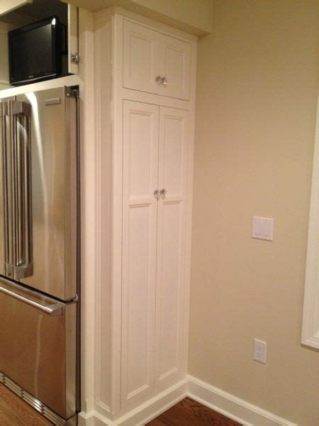 Kitchen Pantry Storage Cabinet Broom Closet by Utility Cabinets At The Edge Of Pantry To Hold Brooms