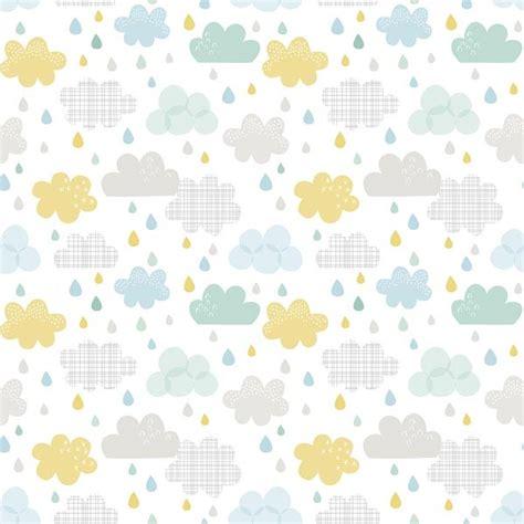 papier peint chambre garcon papier peint enfant nuages et gouttes