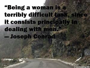 Being A Woman Free Quote