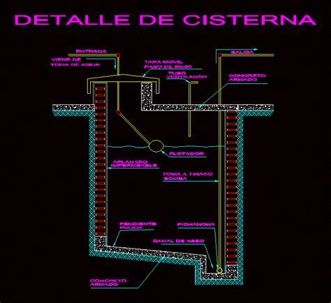 detalle cisterna en autocad descargar cad  kb