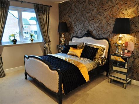Bedroom Decorating Ideas Brown And Gold black and gold bedroom ideas black brown gold orange
