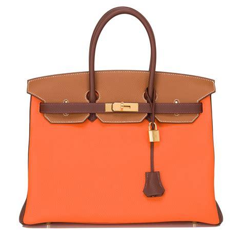 hermes birkin orange h togo 35cm gold hardware hermes birkin bag price range