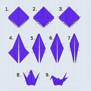 Origami Kranich Anleitung : origami schwan falten hobby webtipps ~ Frokenaadalensverden.com Haus und Dekorationen