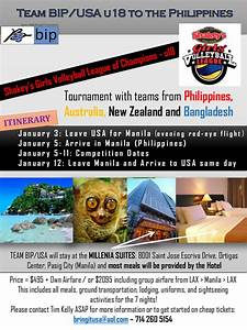 Team BIP/USA u18 to the Philippines – Bring It USA, LLC