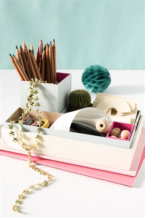 diy desk organizer diy nesting desk organizer sugar cloth diy projects