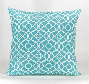 havock throw pillow aqua With aqua colored pillows