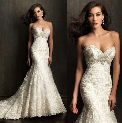 Vintage 2016 Sweetheart Lace Mermaid Wedding Dresses For