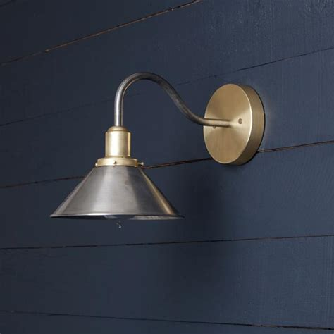 gooseneck metal shade wall sconce two kings co