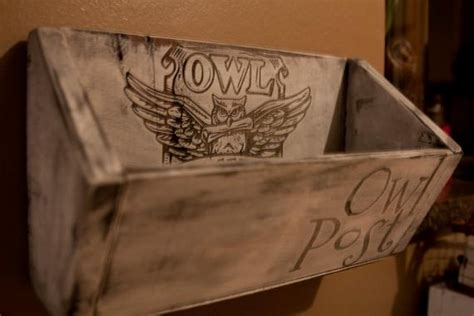 owl post mail holder wall hanging harry potter home