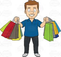 Men Shopping Spree Clip Art