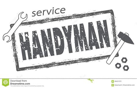 Professional Handyman Services Logo. Stamp Handyman In