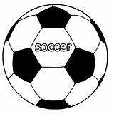 Ball Coloring Pages Football Soccer Getcoloringpages sketch template