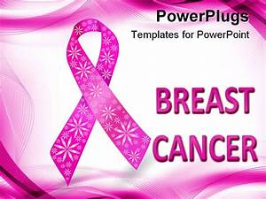 Cancer ribbon stencil for Free breast cancer powerpoint presentation templates