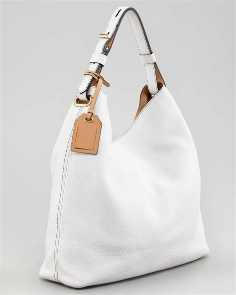 reed krakoff standard hobo bag optic white  white lyst