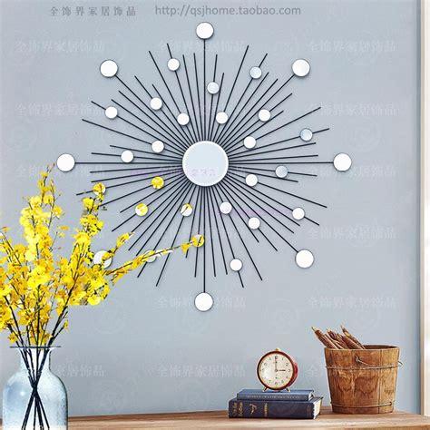 wall decor modern mirror wall sunburst metal wall wire wall