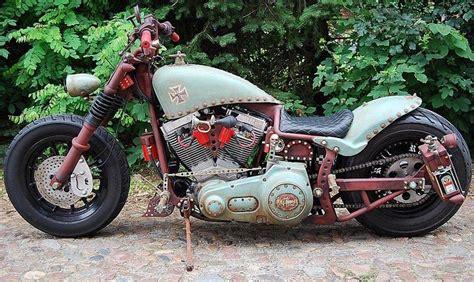 harley davidson rat bike softail fxst custom motorcycles