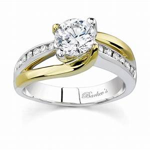 barkev39s two tone engagement ring 6990ly With two toned wedding ring sets