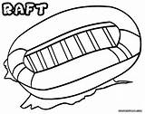Raft Coloring Pages Rafting Inflatable Sheet Colorings sketch template