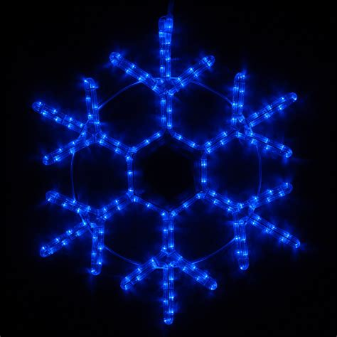 snowflakes stars 12 quot led 18 point snowflake blue lights