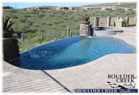 negative edge pools boulder creek pools  spas