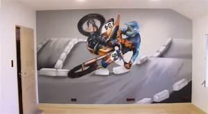 deco chambre moto With couleur mur bureau maison 15 deco maison theme moto