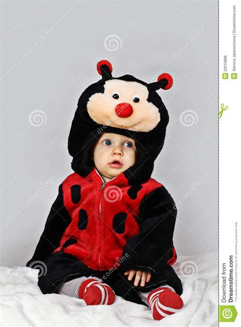 Baby Boy With A Ladybug Costume Royalty Free Stock Image
