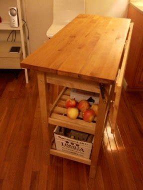 kitchen cart drop leaf foter