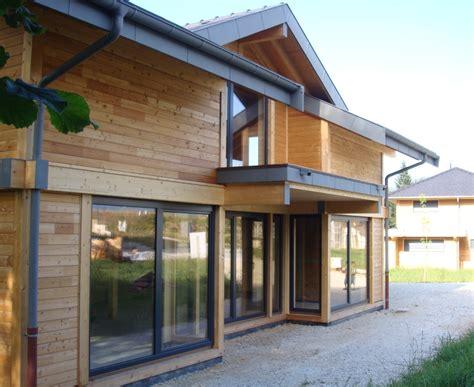 maison construite en bois poteau poutre metz tessy haute savoie