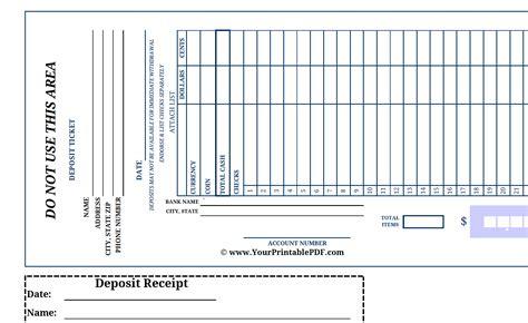 printable large print bank deposit slip