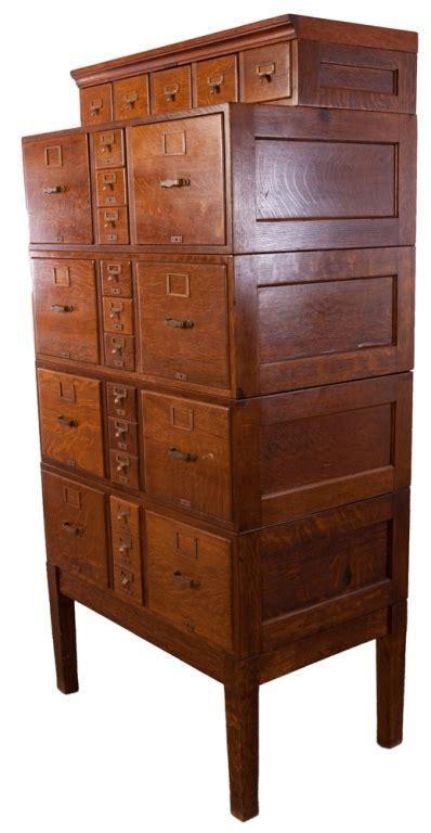 library bureau library bureau sole makers tiger oak file cabinet