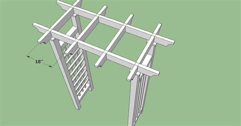 Guide Grape Pergola Plans Woodworking Project Simple