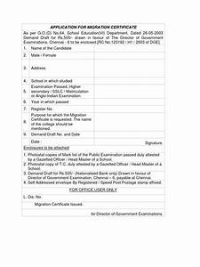 application for migration certificate docsharetips With migration application letter