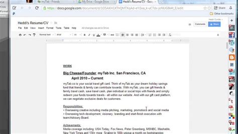 how to make a resume online with google docs the tech