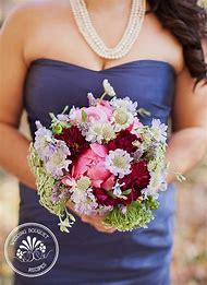 Pink and Burgundy Wedding Bouquet
