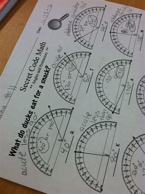 using a protractor teaching in room 6