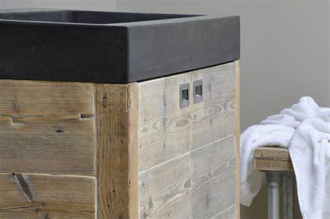 badkamermeubel met 1 wasbak betonnen wasbak met houten badkamermeubel product in