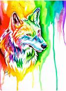 Ebay Rainbow Wolf by Lucky978 on DeviantArt  Colorful Wolf Painting