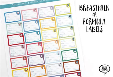 Breastmilk Or Formula Labels