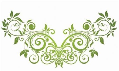 swirl floral design element vector decoration ai svg